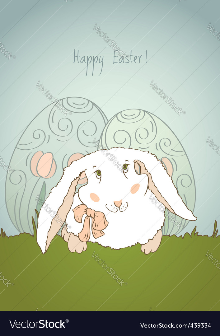 Easter bunny retro vector | Price: 1 Credit (USD $1)