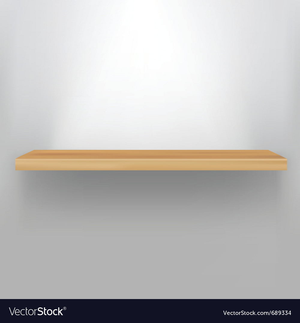 Empty wood shelf vector | Price: 1 Credit (USD $1)