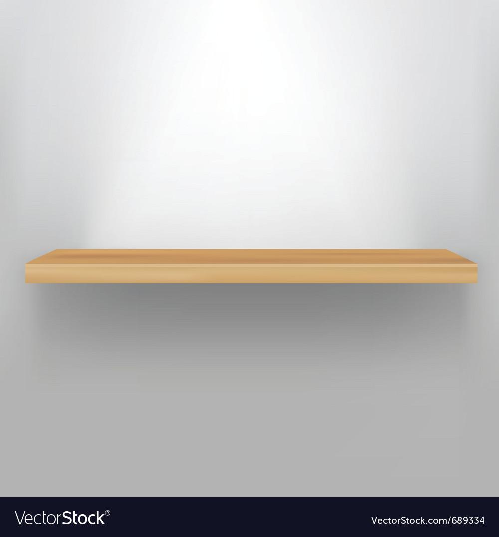 Empty wood shelf vector | Price: 1 Credit (USD $1)