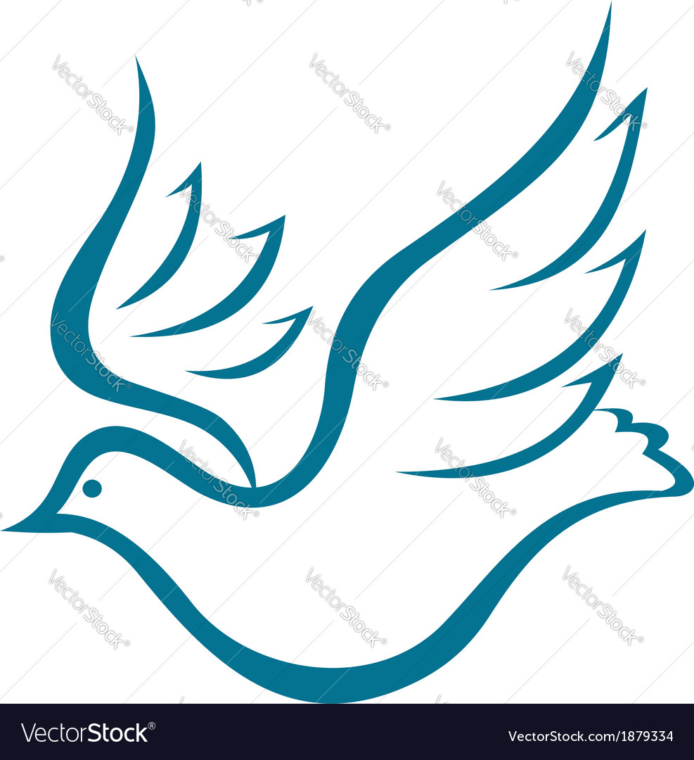 Flying dove of peace vector | Price: 1 Credit (USD $1)