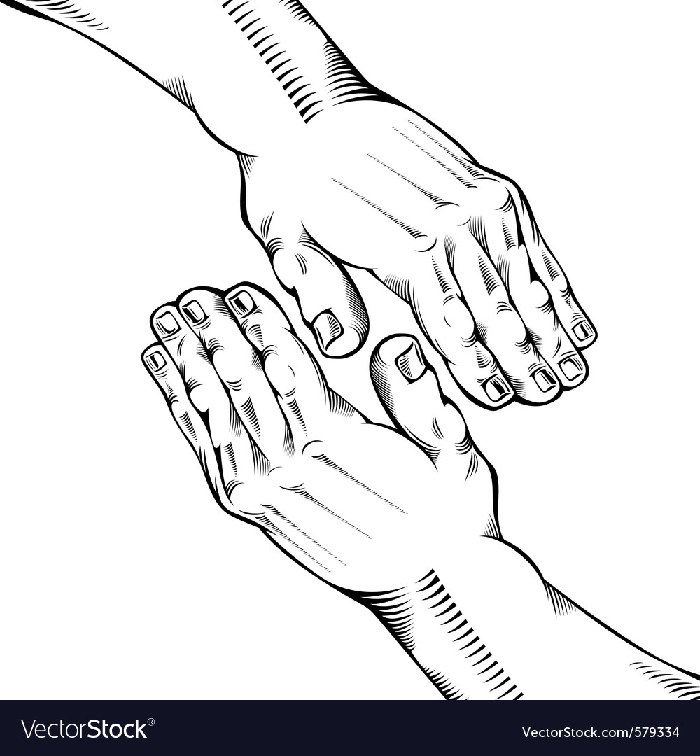Helping hand vector | Price: 3 Credit (USD $3)
