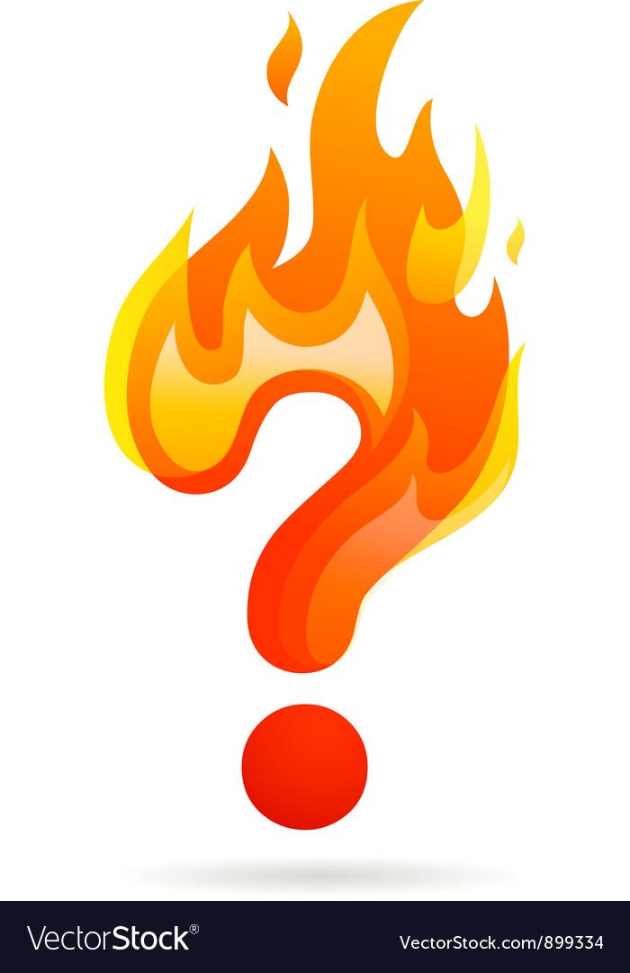 Hot question mark icon vector | Price: 1 Credit (USD $1)