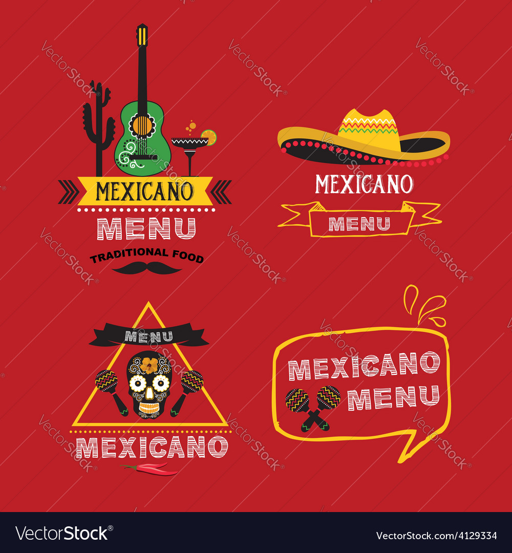 Menu mexican design vector | Price: 1 Credit (USD $1)