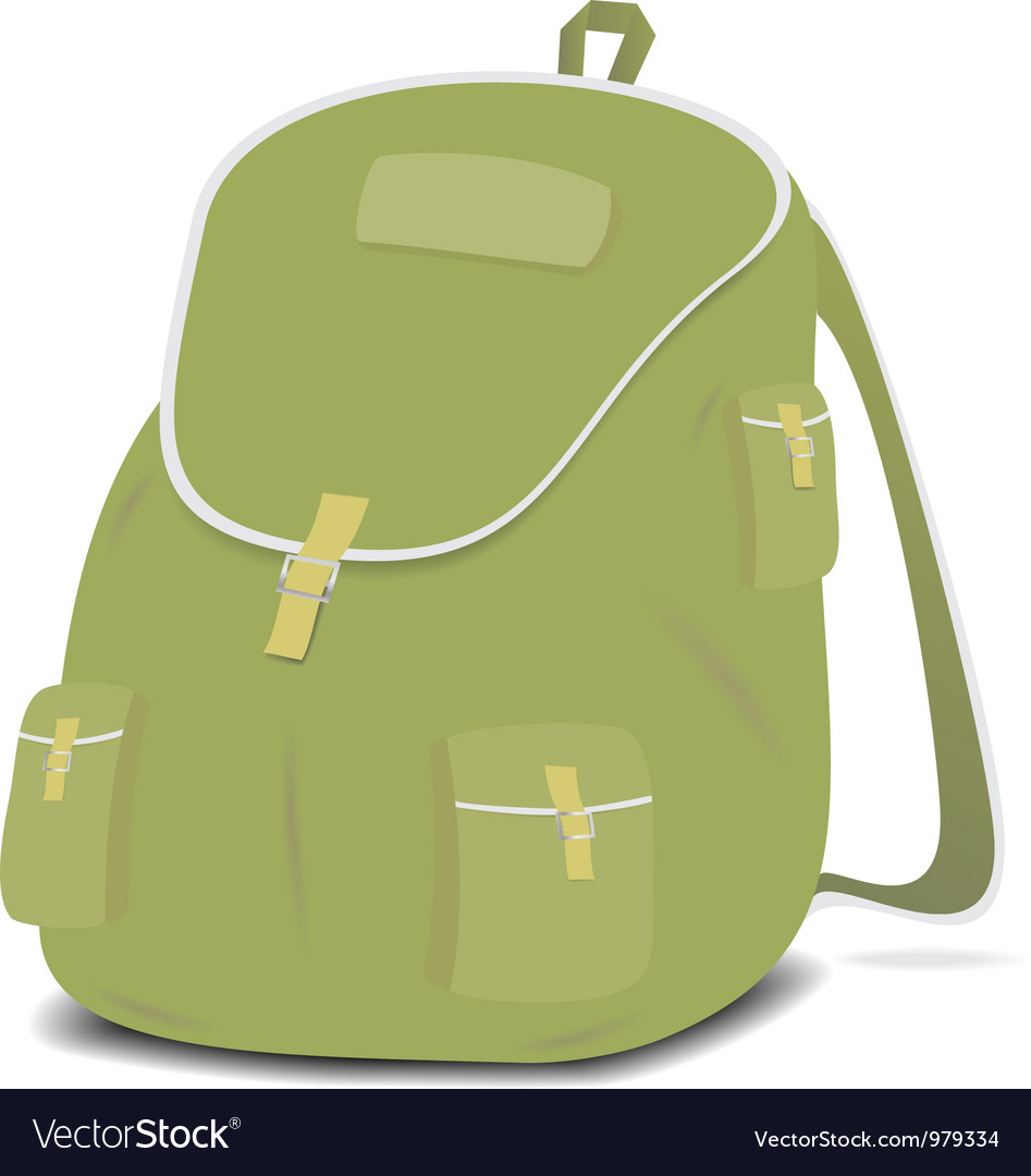 Schoolbag backpack on a white background vector | Price: 1 Credit (USD $1)