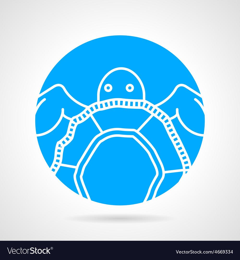 Sea turtle round icon vector | Price: 1 Credit (USD $1)