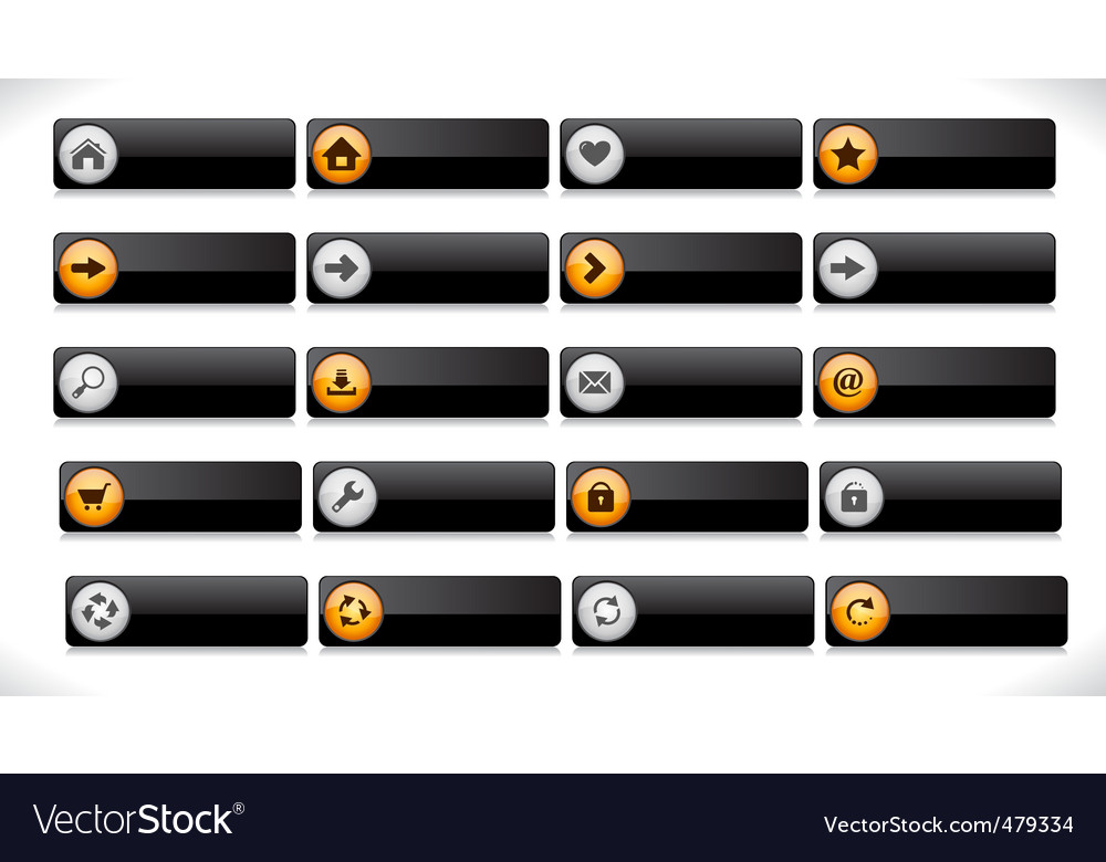 Website interface buttons vector | Price: 1 Credit (USD $1)