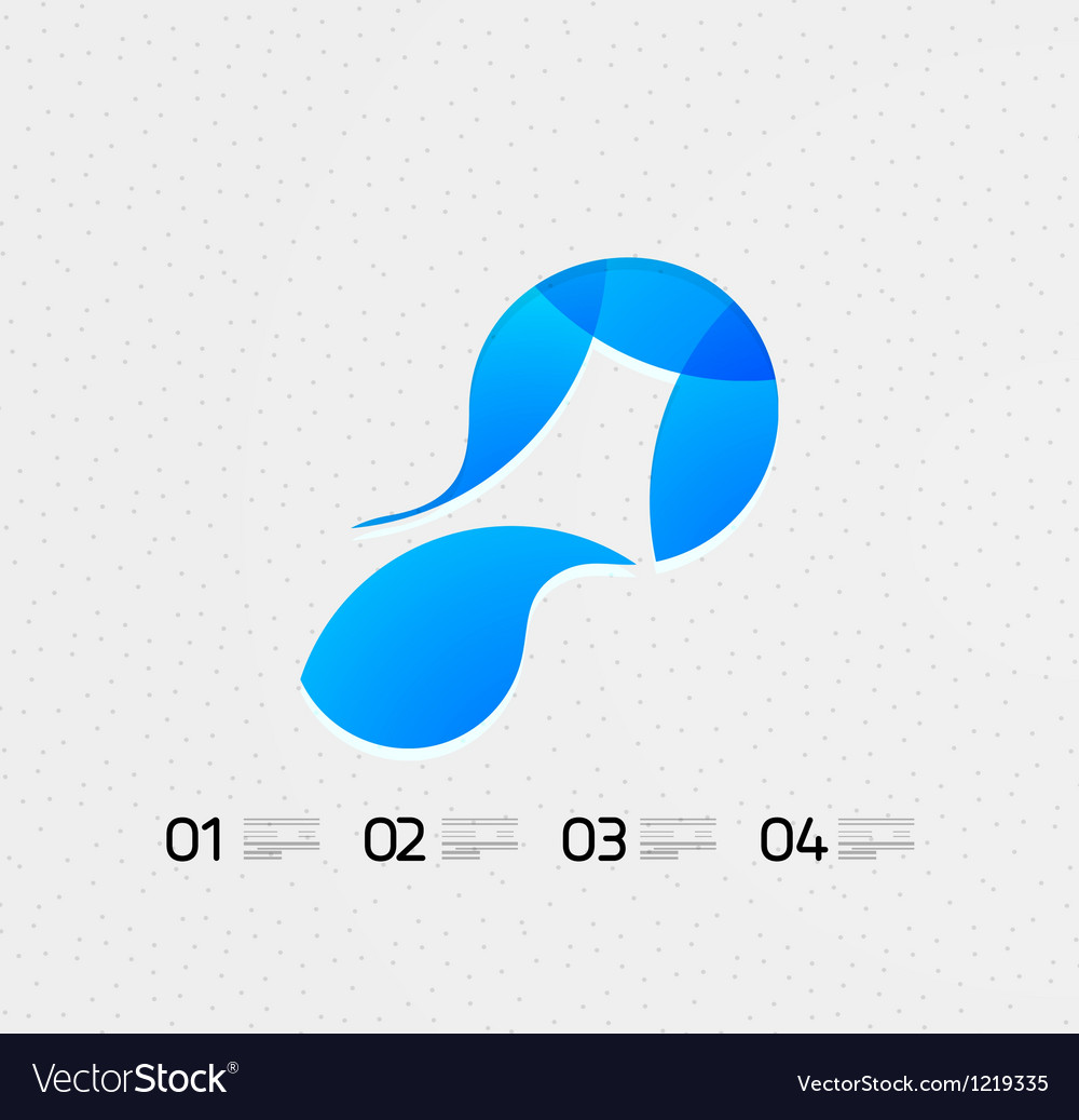 Abstract flowing shape on the paper vector | Price: 1 Credit (USD $1)