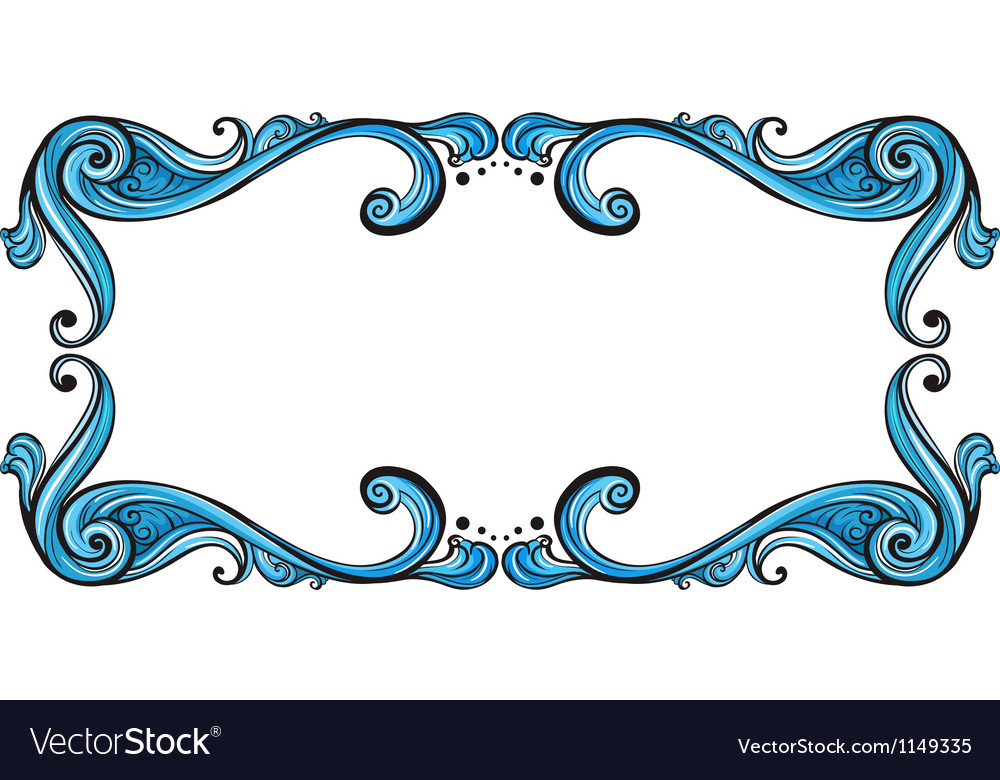 Aqua border frame vector | Price: 1 Credit (USD $1)