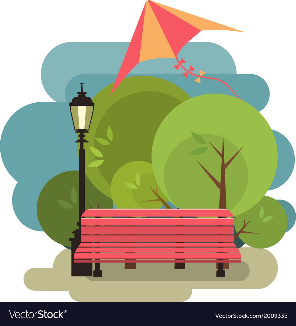 Bench for rest vector | Price: 1 Credit (USD $1)