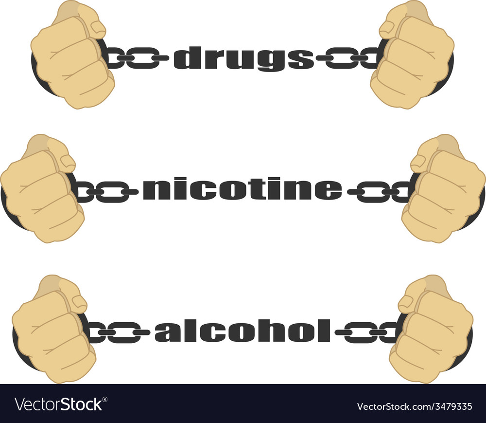 Drugs nicotine alcohol signs vector | Price: 1 Credit (USD $1)