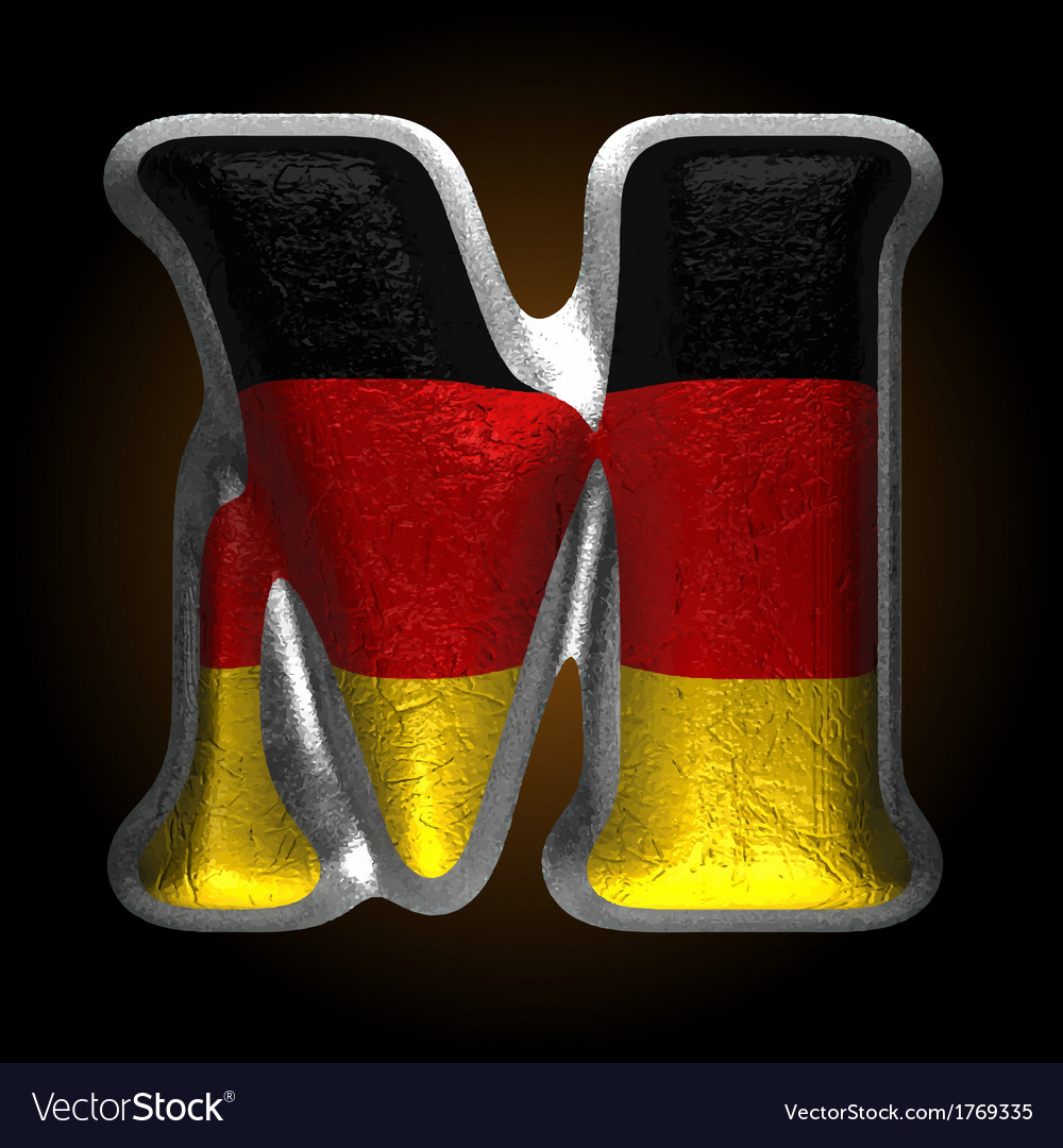 Germany metal figure m vector | Price: 1 Credit (USD $1)