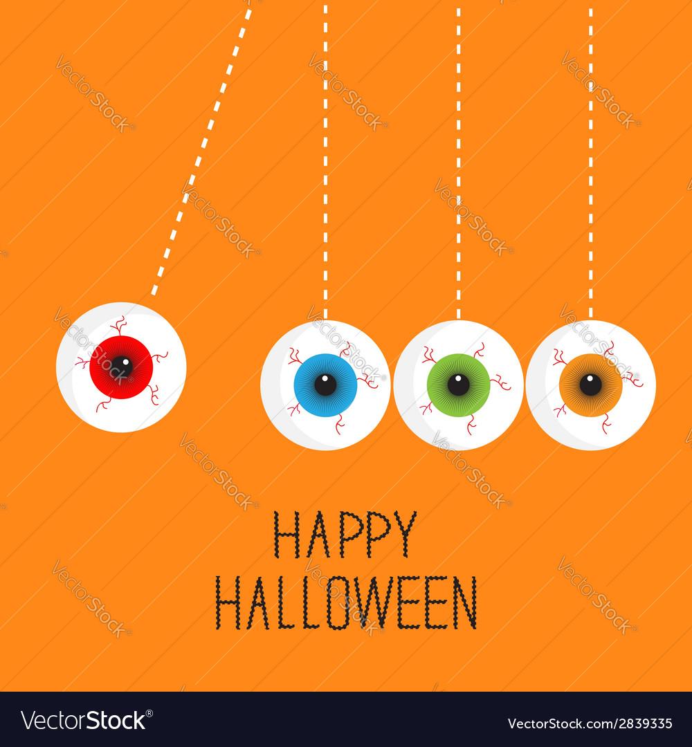Hanging eyeballs bloody streaks perpetual motion vector | Price: 1 Credit (USD $1)