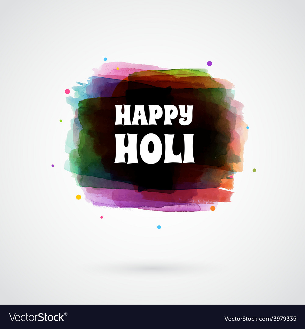 Happy holi card template vector | Price: 1 Credit (USD $1)