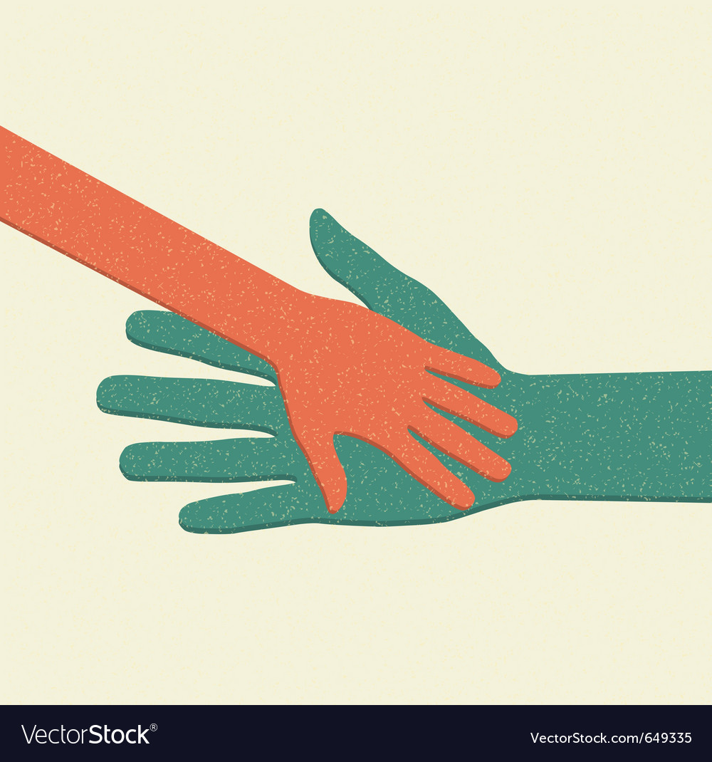 Helping hands adult care about child vector | Price: 1 Credit (USD $1)