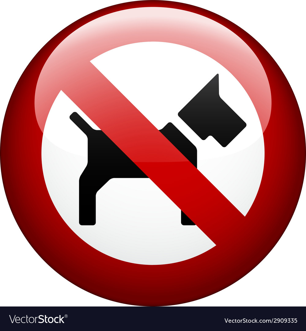 No dog mark vector | Price: 1 Credit (USD $1)