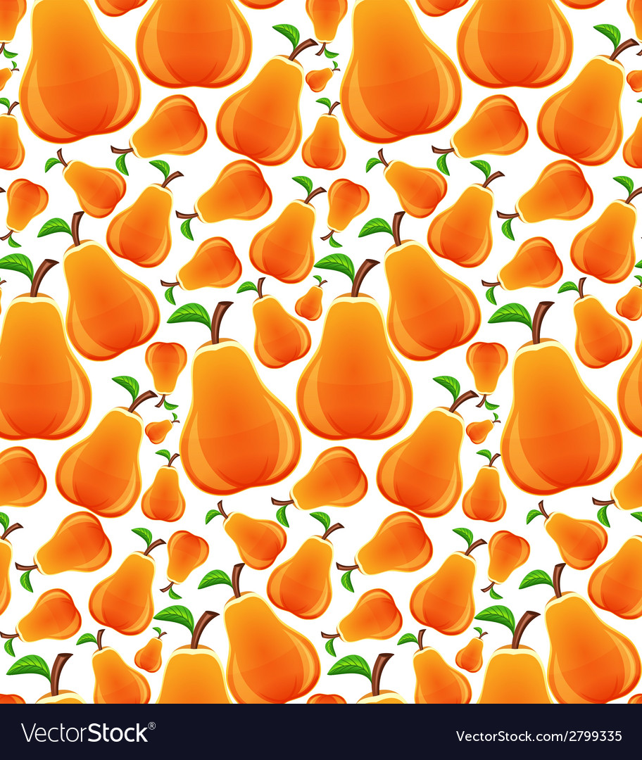 Pear seamless pattern vector | Price: 1 Credit (USD $1)