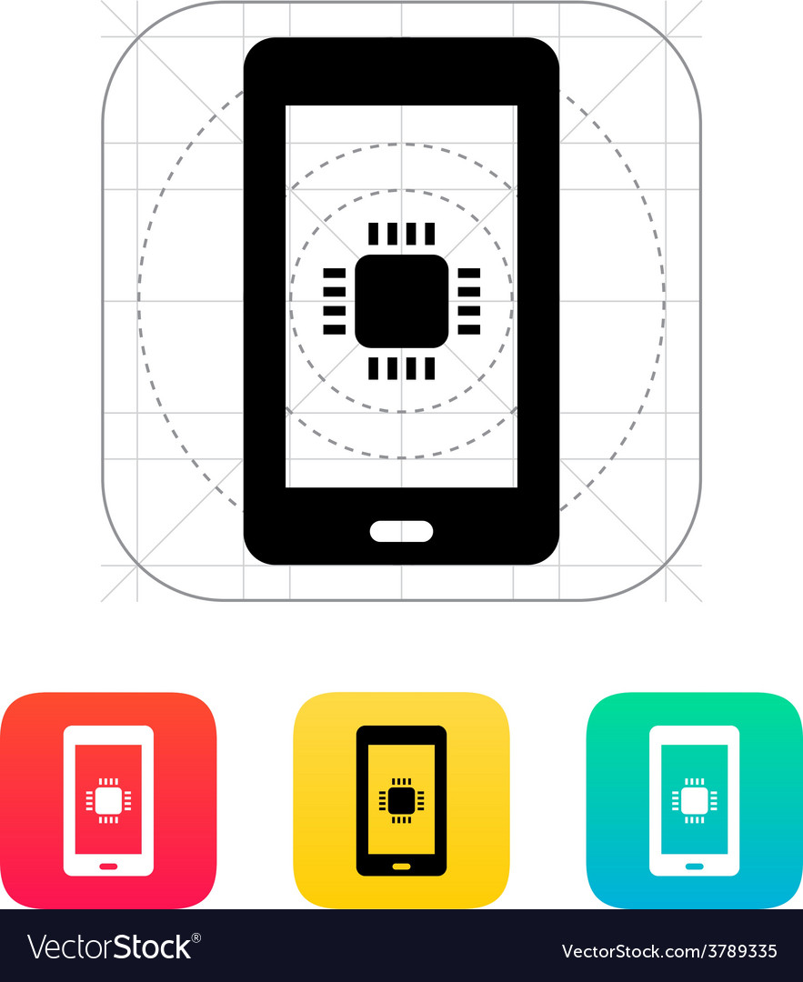 Phone cpu icon vector | Price: 1 Credit (USD $1)