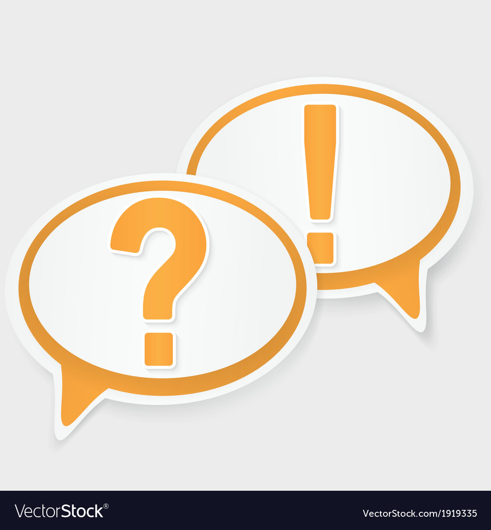 Question and answer marks with speech bubbles vector | Price: 1 Credit (USD $1)