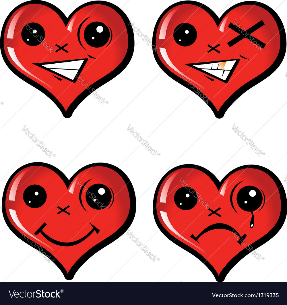 Set emotional hearts vector | Price: 1 Credit (USD $1)