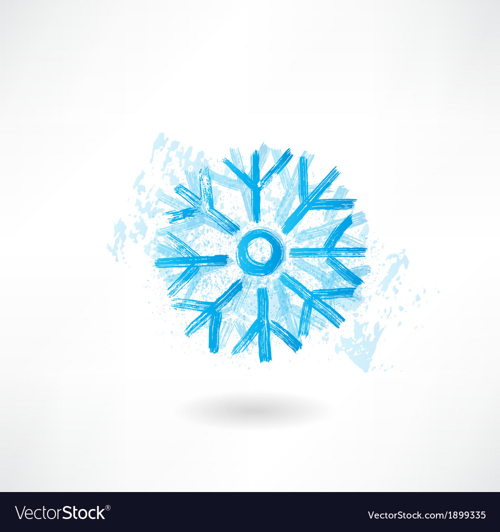 Snowflake grunge icon vector | Price: 1 Credit (USD $1)