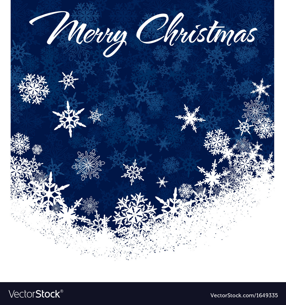 Snowflakes chrismas card vector | Price: 1 Credit (USD $1)