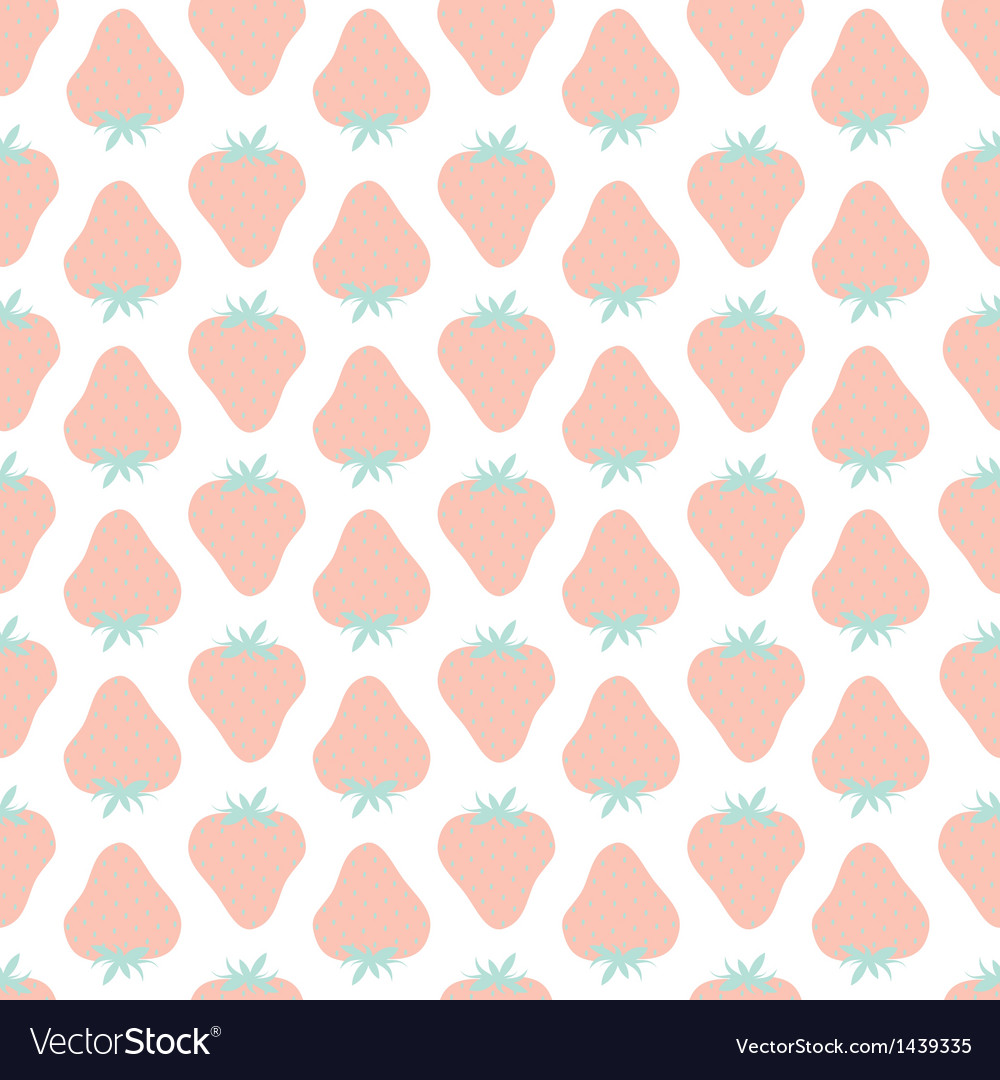 Strawberries pattern vector | Price: 1 Credit (USD $1)