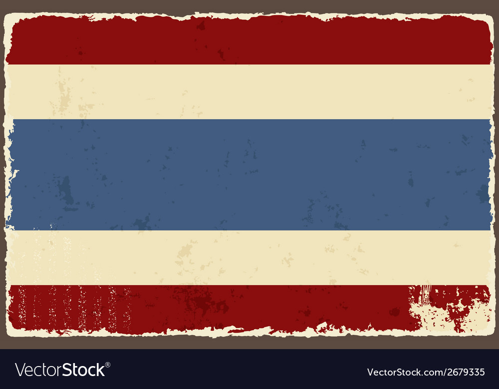 Thai grunge flag vector | Price: 1 Credit (USD $1)