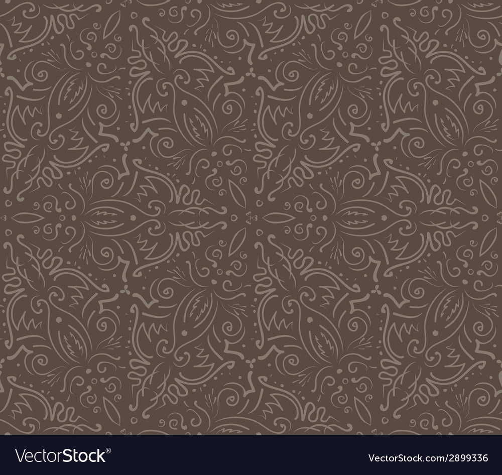 Abstract vintage brown seamless pattern vector | Price: 1 Credit (USD $1)