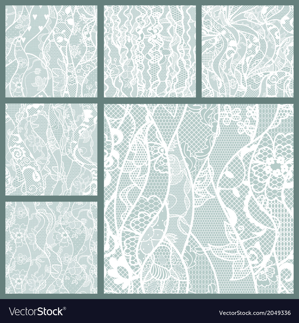 Big set of lace fabric seamless patterns vector | Price: 1 Credit (USD $1)