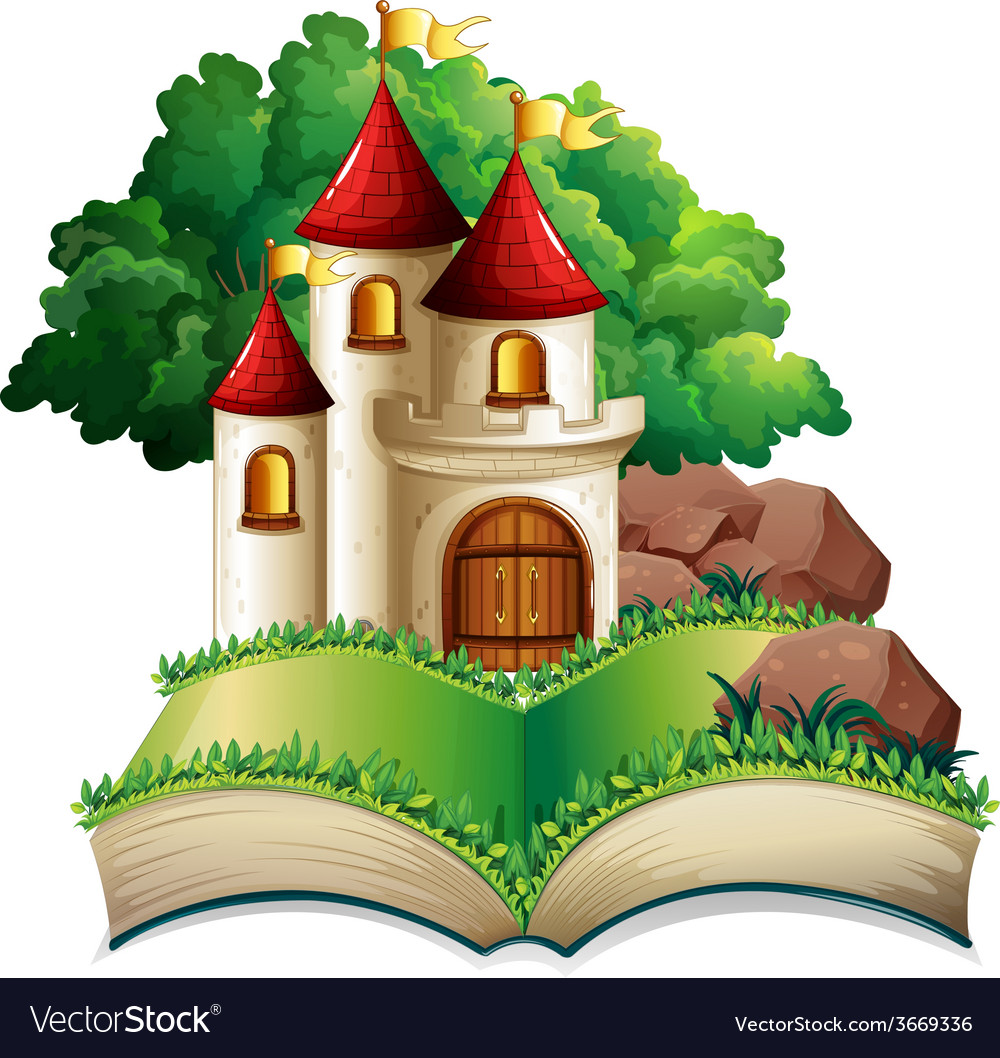 Castle and book vector