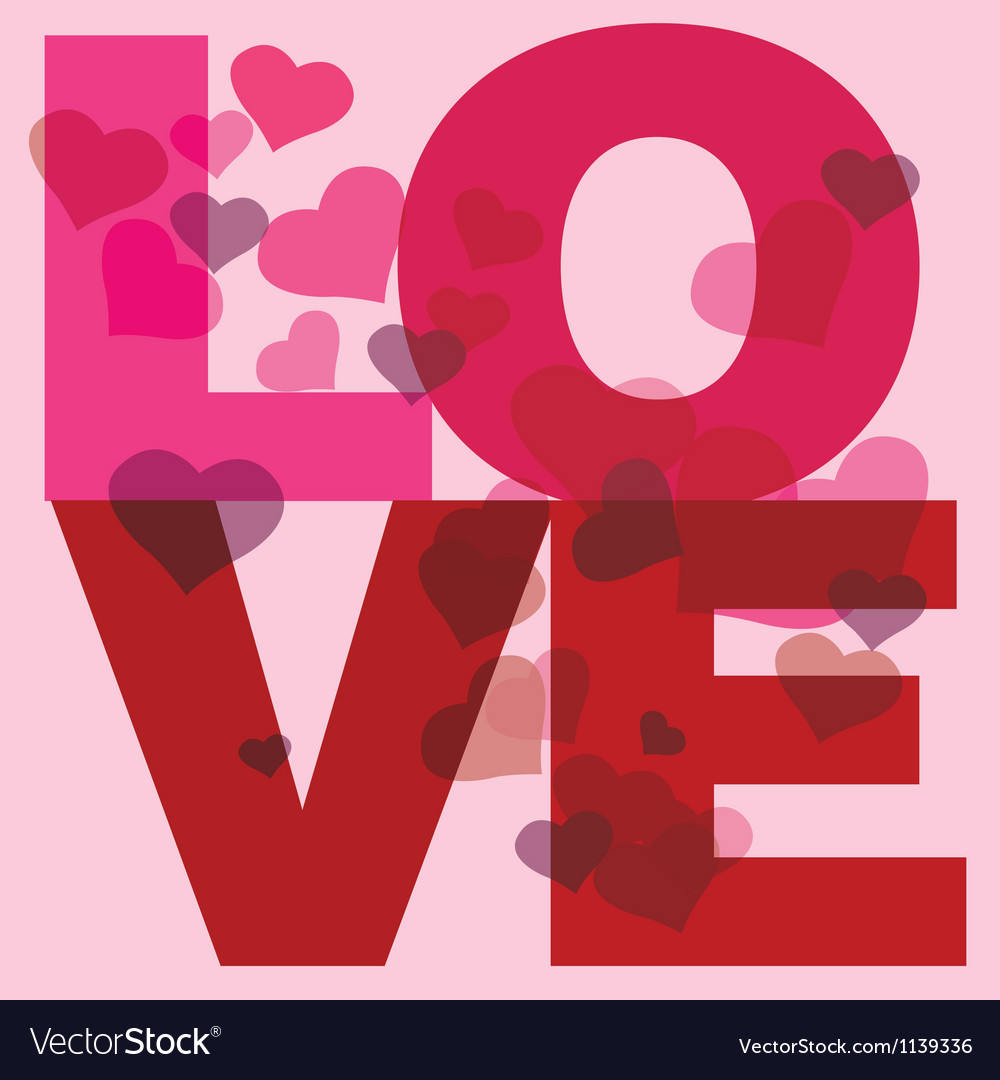 Love message print vector | Price: 1 Credit (USD $1)