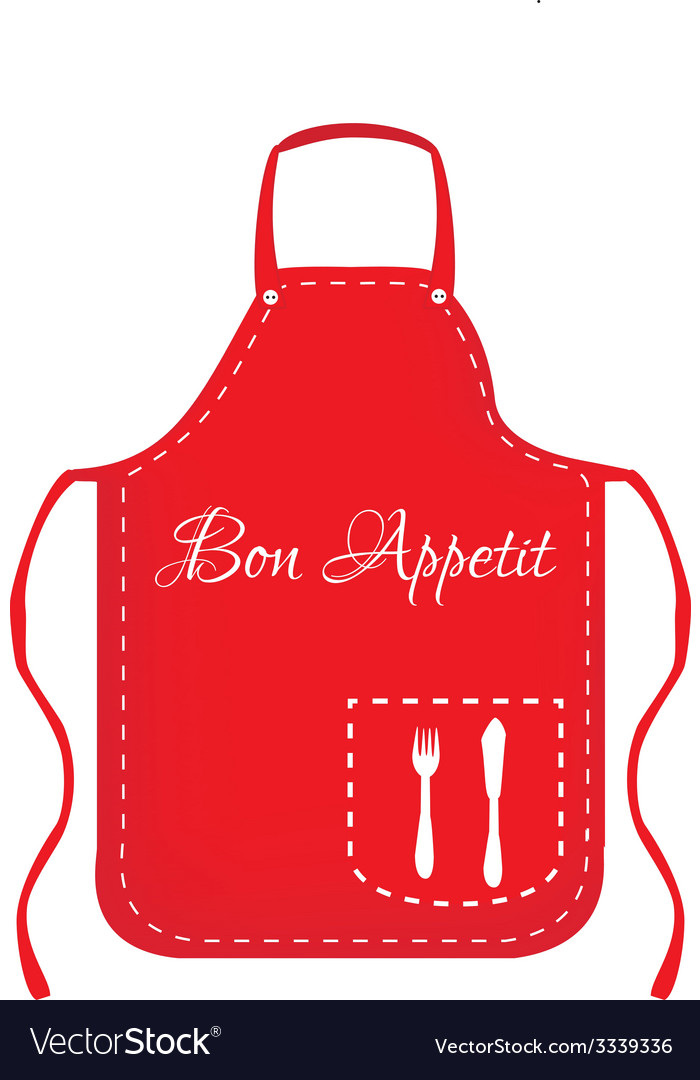 Red apron vector | Price: 1 Credit (USD $1)