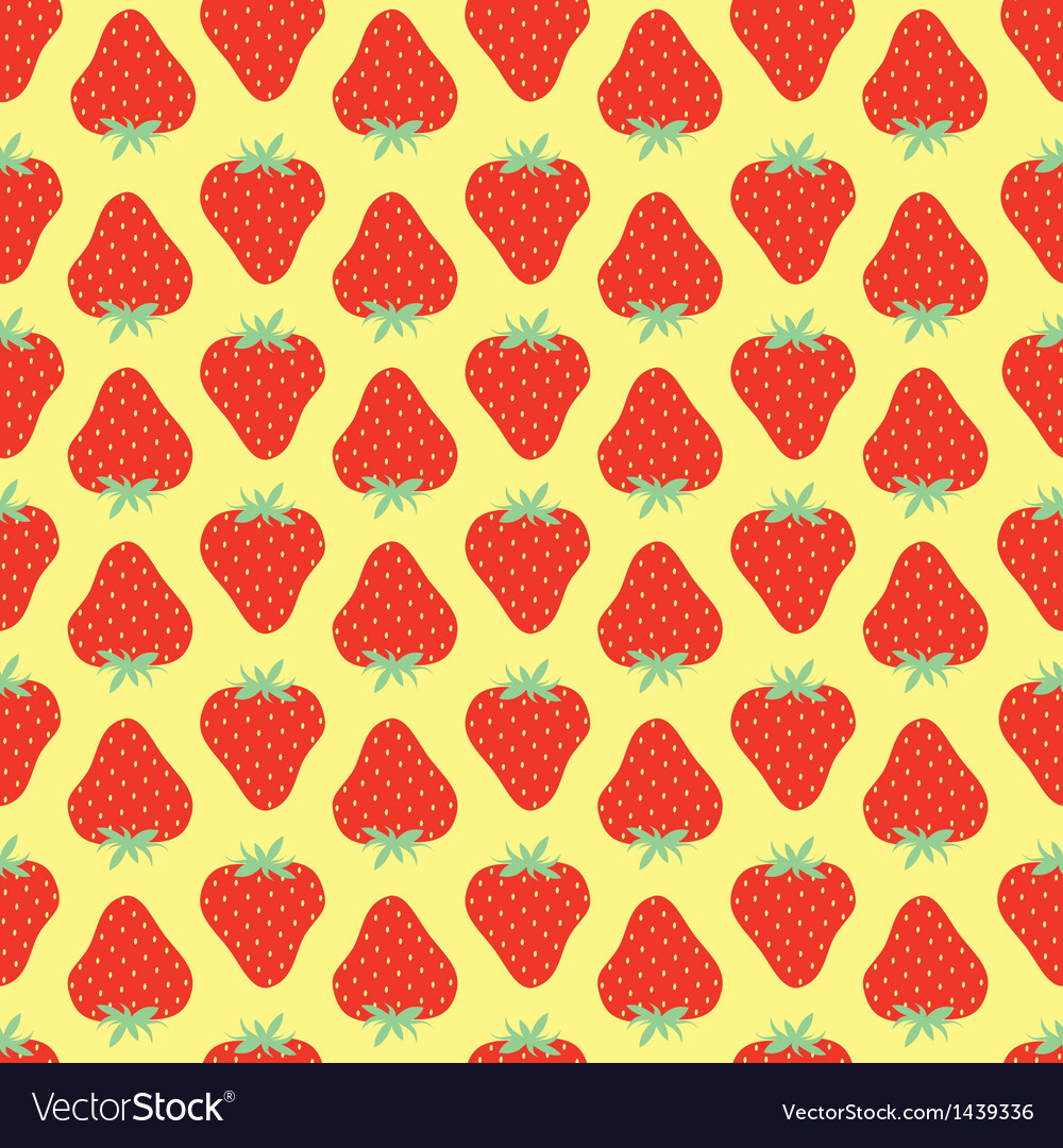 Srawberries pattern vector | Price: 1 Credit (USD $1)