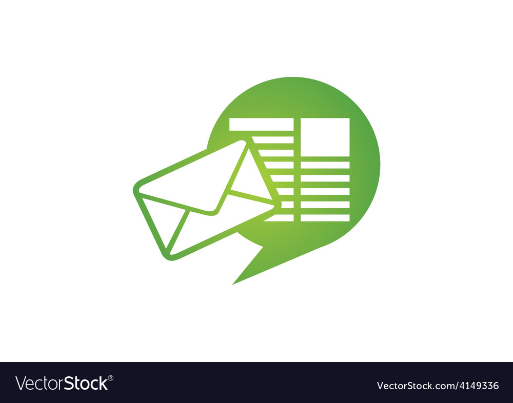 Talk message communication media logo vector | Price: 1 Credit (USD $1)