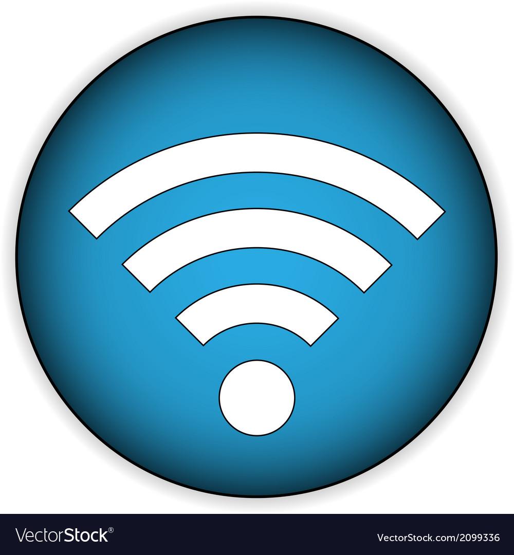 Wi fi icon button vector | Price: 1 Credit (USD $1)