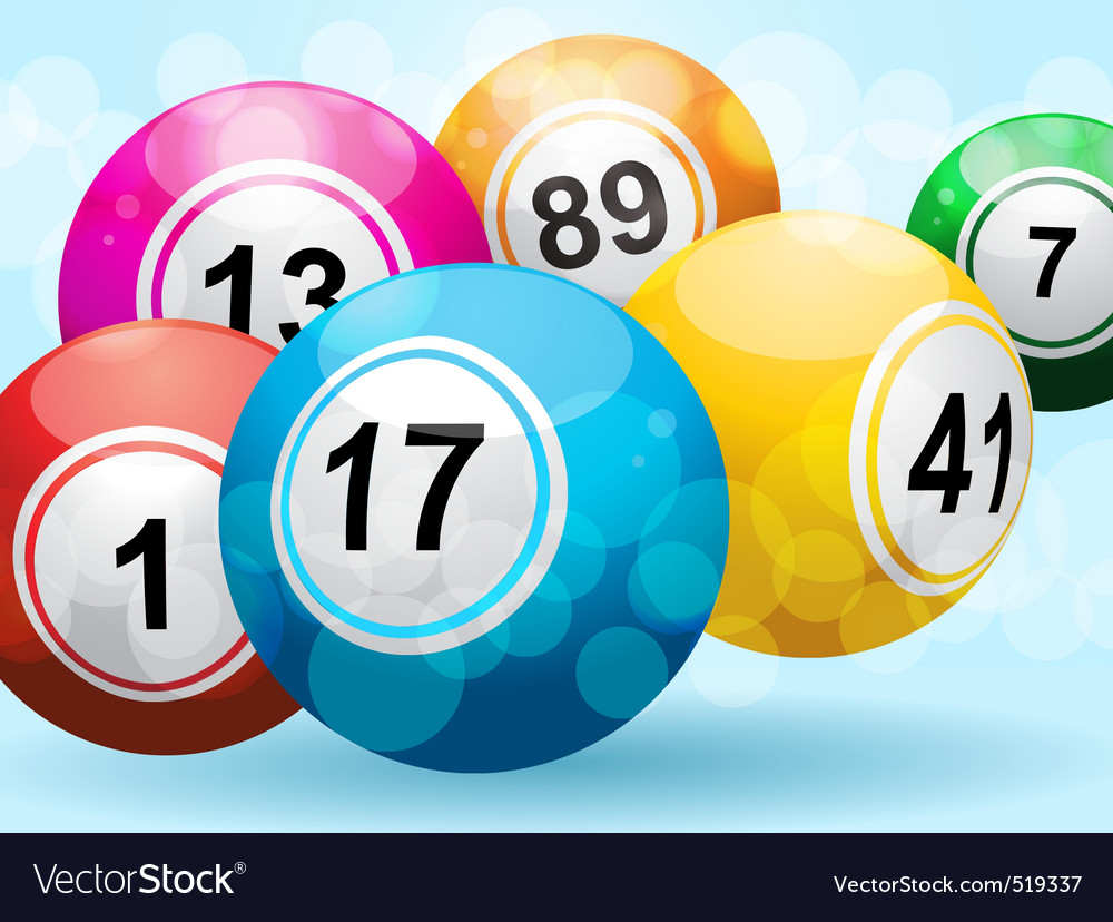 3d bingo or lottery ball background vector | Price: 1 Credit (USD $1)