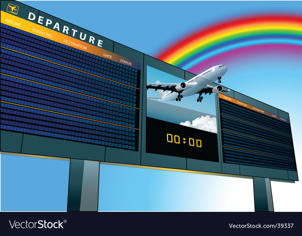 Airport departure board vector | Price: 3 Credit (USD $3)
