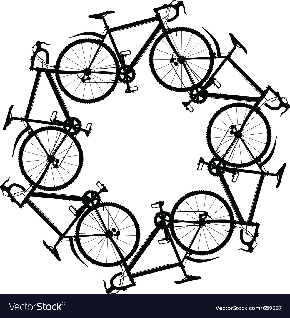 Cycling around vector | Price: 1 Credit (USD $1)
