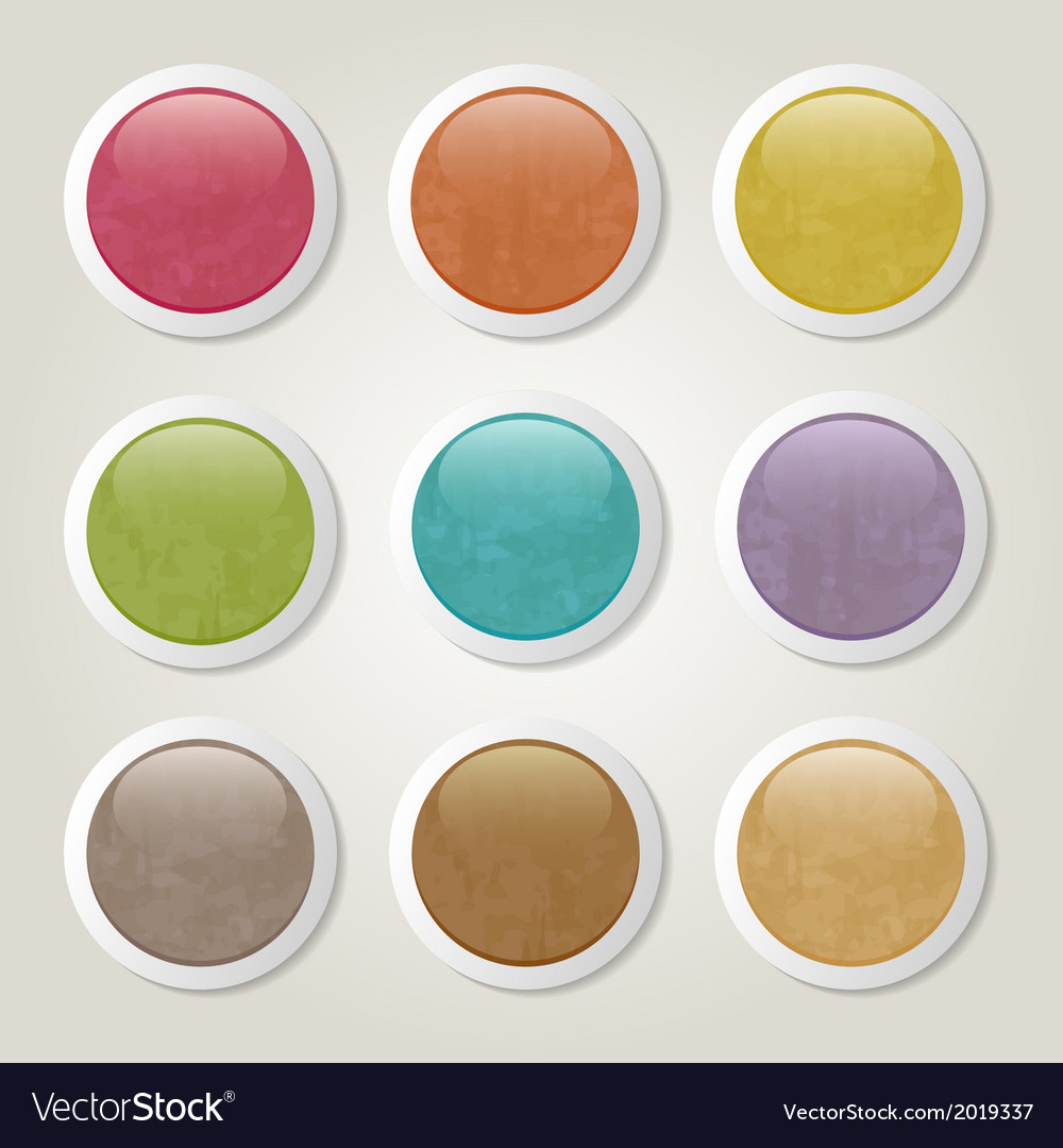 Grunge buttons vector   Price: 1 Credit (USD $1)