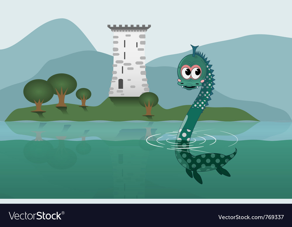 Loch ness vector | Price: 3 Credit (USD $3)