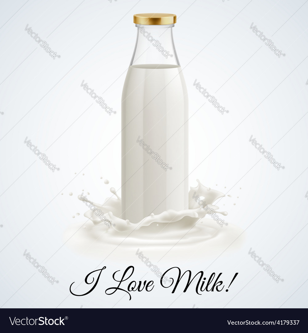 Milk bottle vector | Price: 1 Credit (USD $1)
