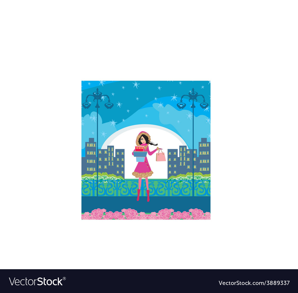 Night shopping vector   Price: 1 Credit (USD $1)