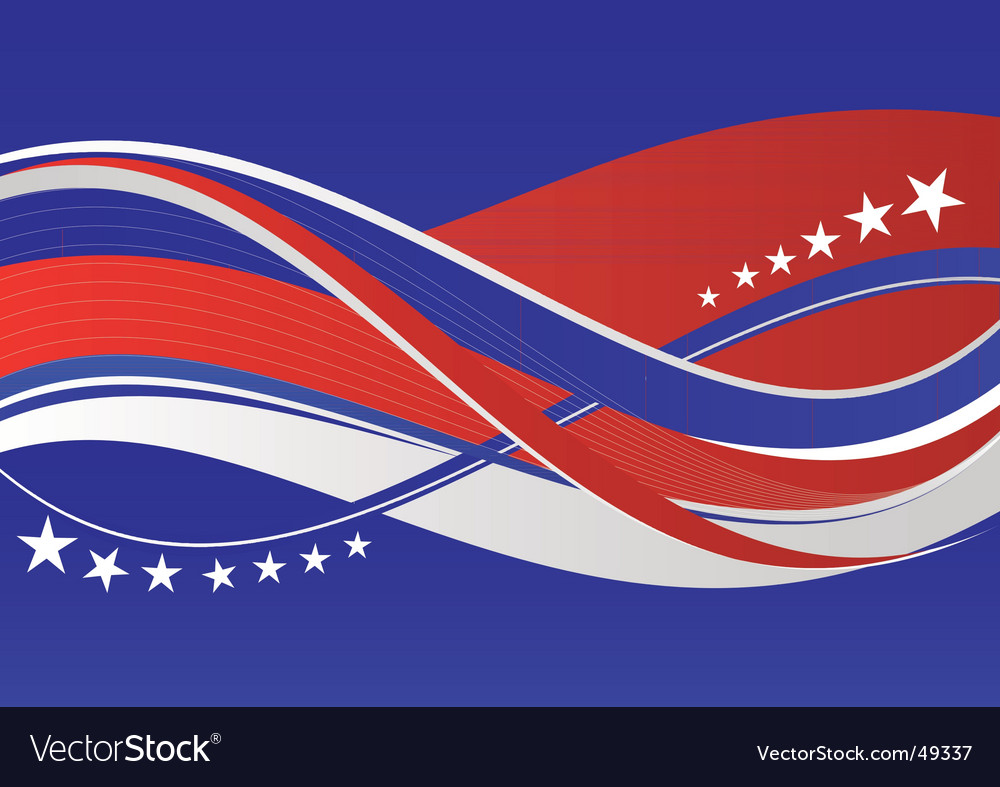 Patriotic background stars and stripes vector | Price: 1 Credit (USD $1)