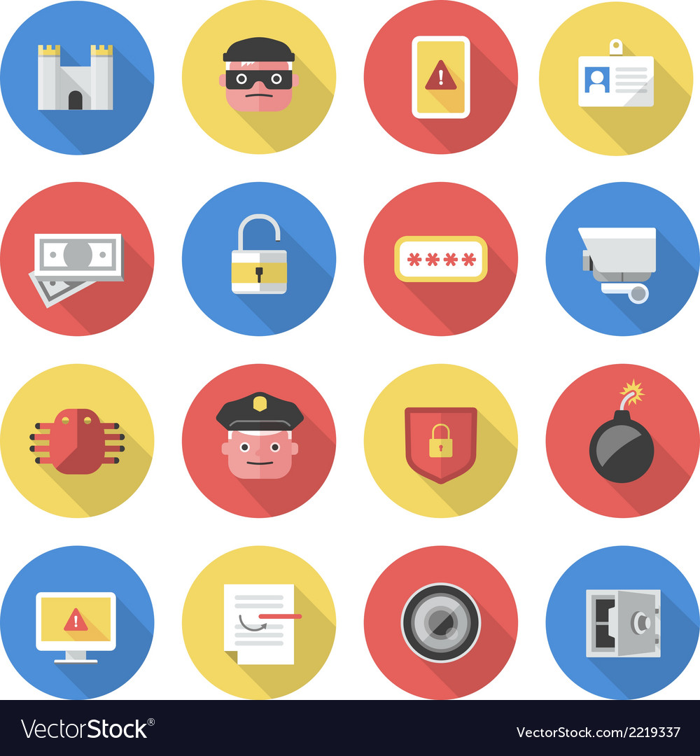 Security - flat icons vector | Price: 1 Credit (USD $1)