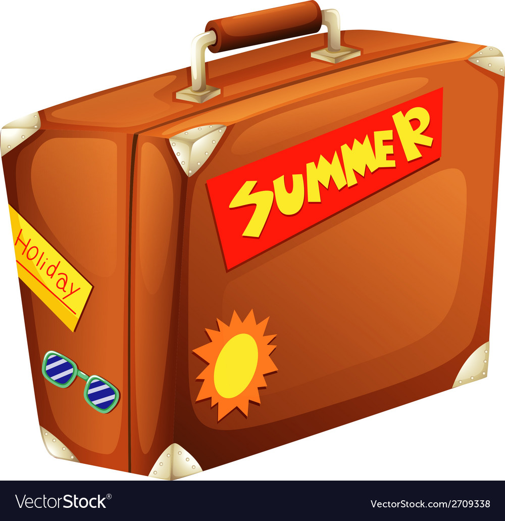 A big bag for a summer vacation vector   Price: 1 Credit (USD $1)
