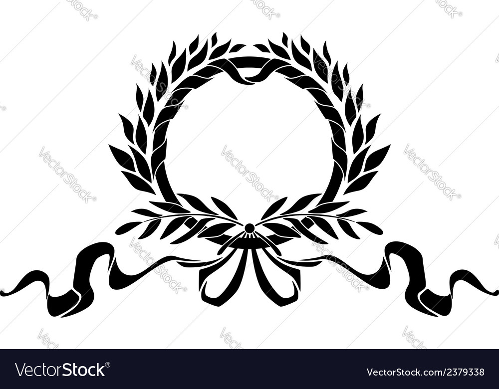 Black heraldic wreath with elements vector | Price: 1 Credit (USD $1)