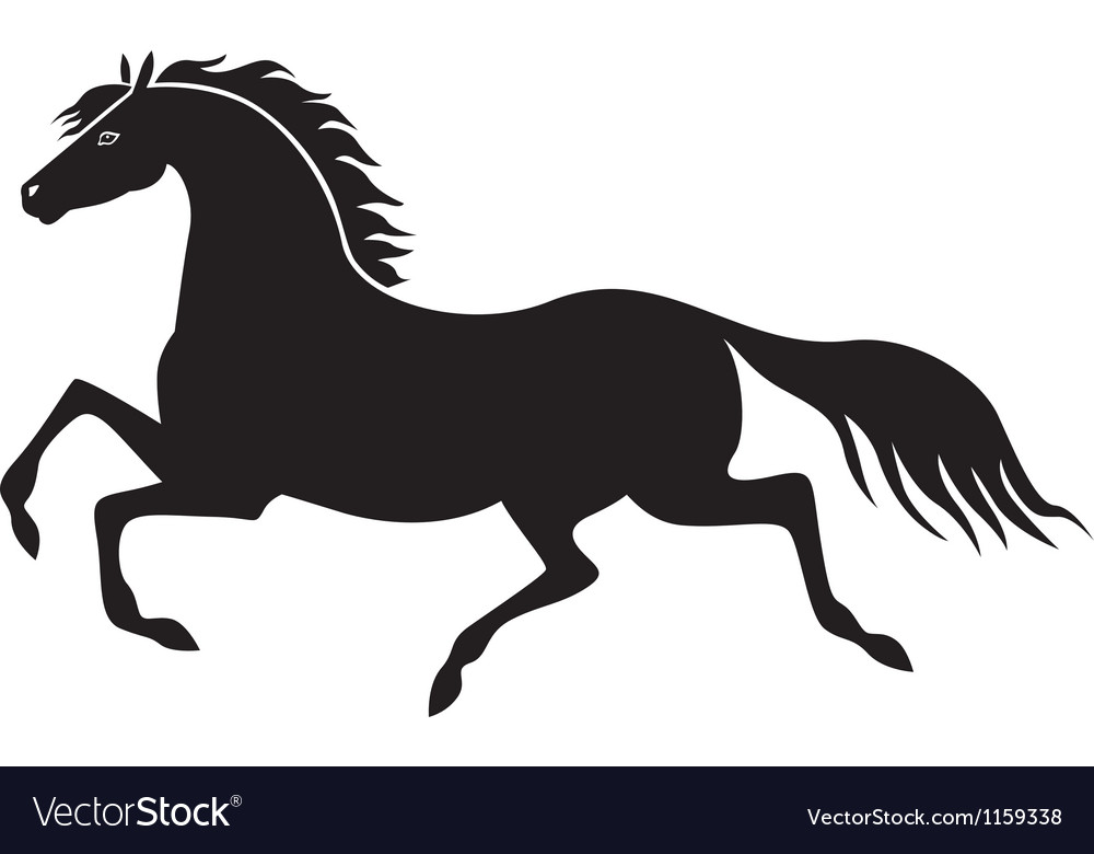 Galloping horse vector | Price: 1 Credit (USD $1)