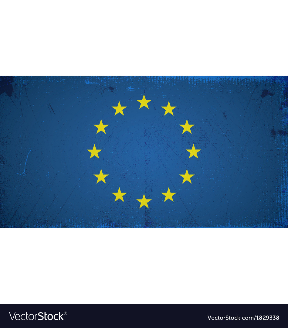 Grunge flags - europe union vector | Price: 1 Credit (USD $1)