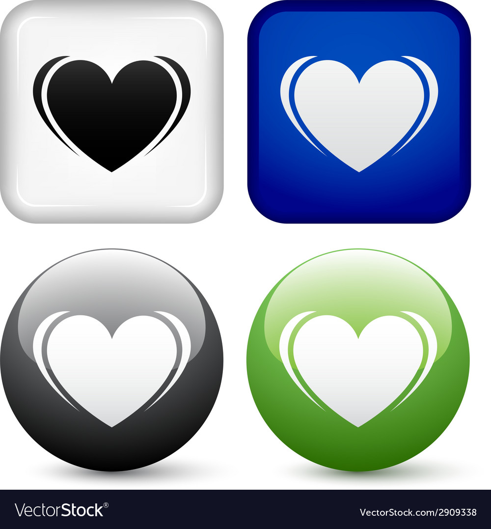 Heart buttons vector | Price: 1 Credit (USD $1)
