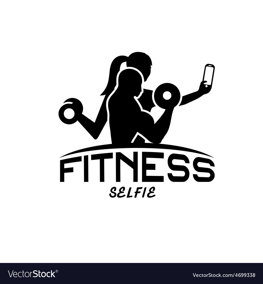 Man and woman of fitness silhouette character make vector | Price: 1 Credit (USD $1)